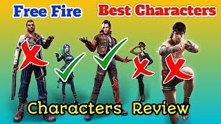 Free Fire Best Characters In Tamil And Characters Review Tamil | Free Fire-ல் எது சிறந்த Character ?