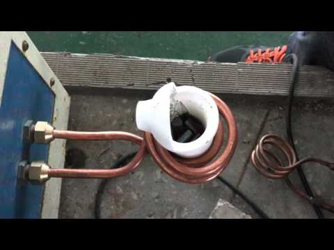Induction Furnace Melting With Small Induction Heater 15KW