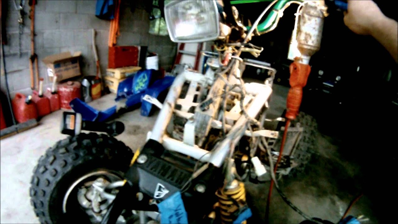 start stop wiring diagram auto system yamaha blaster rebuild part 2 of 6 plastic/electronics - youtube
