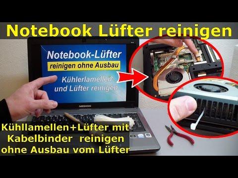 Notebook Lüfter + Lamellen reinigen ohne Ausbau - nur Klappe aufschrauben