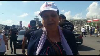 """Şenal Sarıhan """"Siz olmazsanız bir eksik oluruz"""" #AdaletYürüyüşü"""