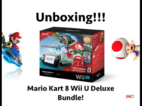 Wii u mario kart 8 bundle unboxing youtube - Wii console mario kart bundle ...