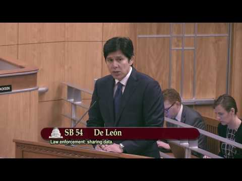 Senator de León presents The California Values Act (SB 54) to committee