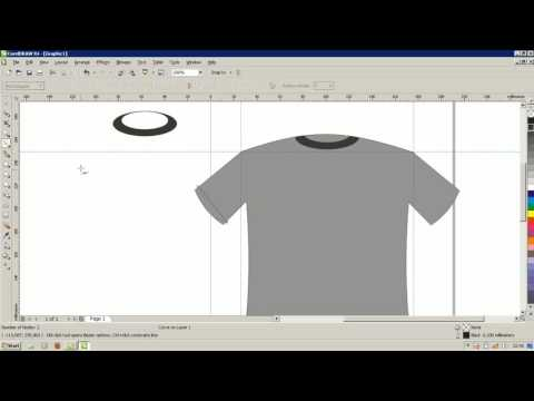 Tutorial Desain Baju Dengan Mudah Corel Draw X4