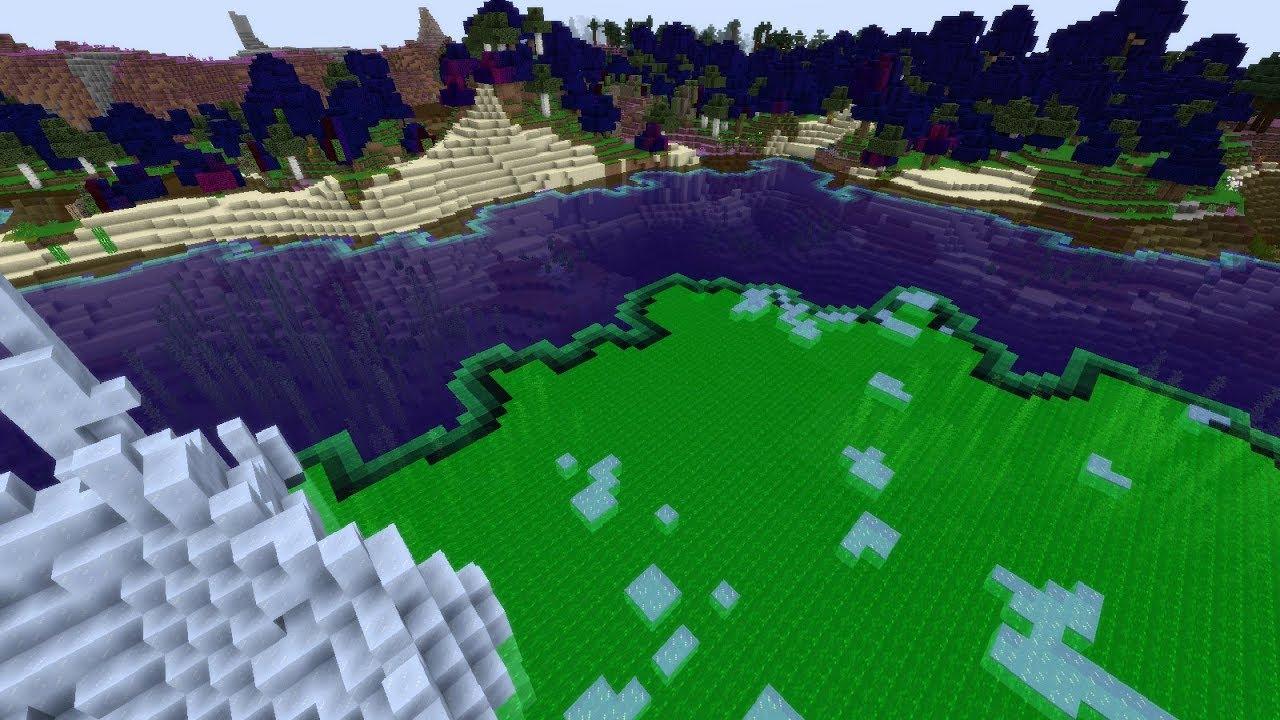 what happens if biome blending is negative in minecraft youtube