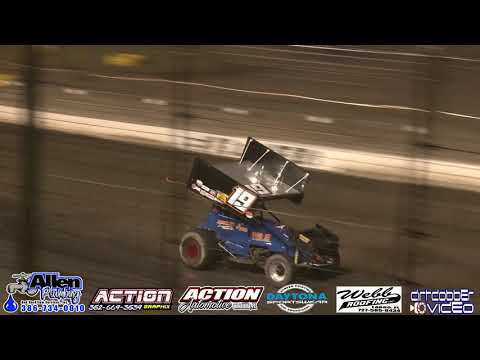 Top Gun Sprint Cars Feature, Volusia Speedway Park, 4/27/19