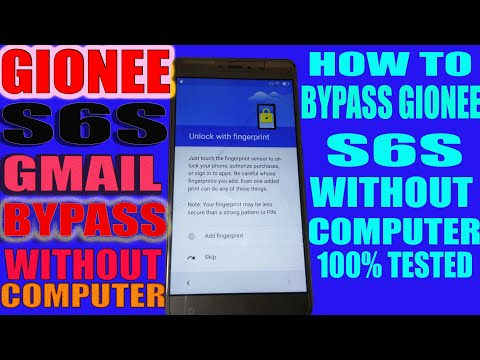 GIONEE S6s GOOGLE ACCOUNT REMOVE/BYPASS by MobiTech