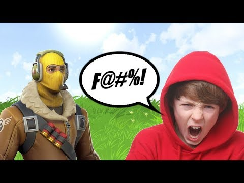 ANGRY TRASH TALKING KID on FORTNITE (HE GOT ROASTED)