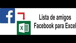 Exporta lista de amigos do Facebook para o Excel