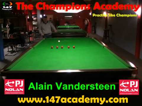 PJ NOLAN SNOOKER ACADEMY PLAYER -- Alain Vandersteen