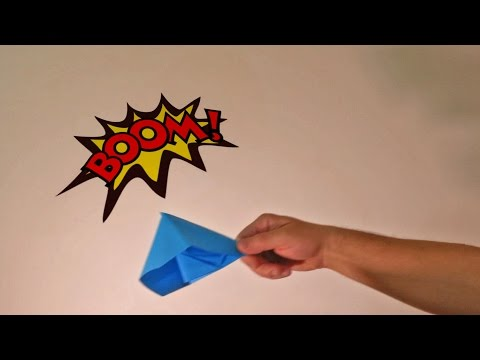 Thumbnail: How to make origami paper popper BOMB