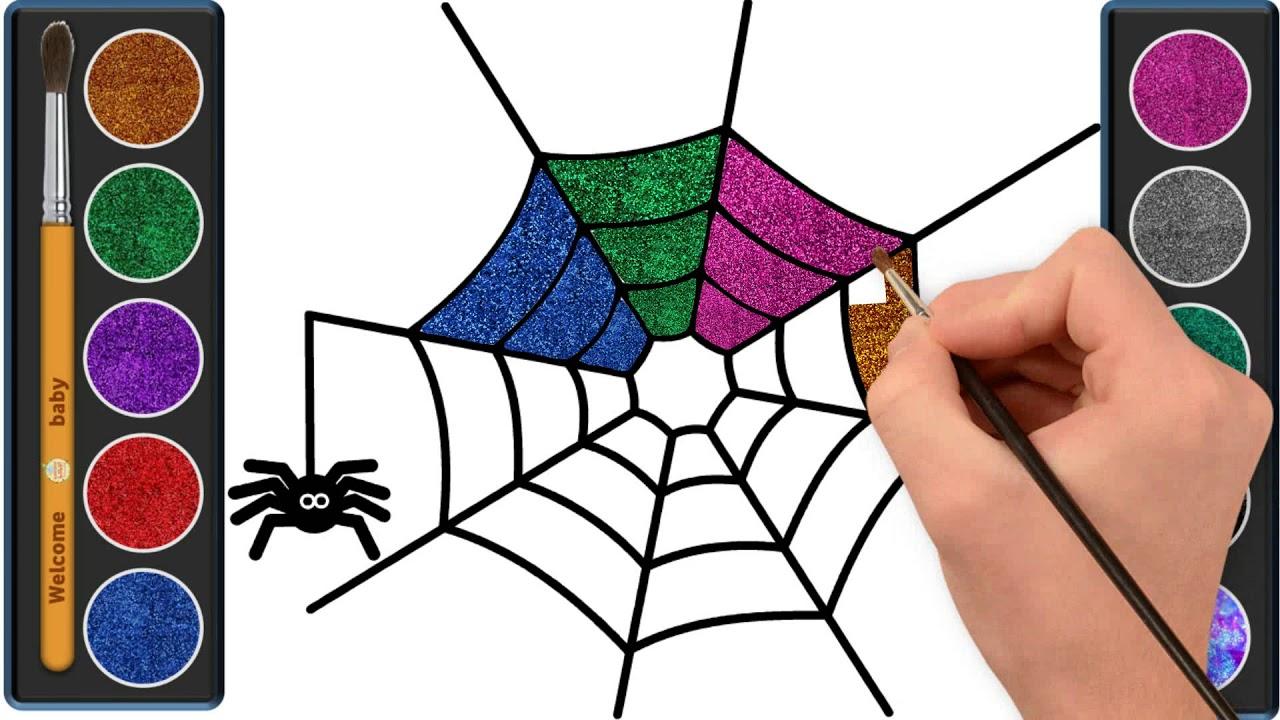 تعليم رسم العنكبوت للاطفال لعب ومرح للاطفال Drawing Coloring Spider For Kids Youtube