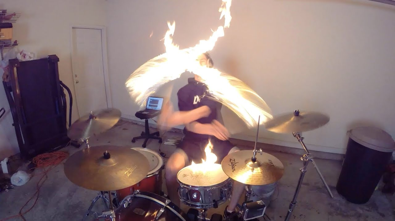 My Drum Lessons! http://www.drumeo.com/coop3rdrumm3r Drumming With Fire starts at 3:00 Facebook: http://www.facebook.com/thecoop3rdrumm3r Twitter: http://www...
