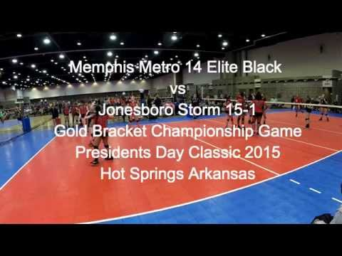 Memphis Metro 14 Elite Black vs Jonesboro Storm 15-1 PRESIDENTS DAY GOLD CHAMPIONSHIP