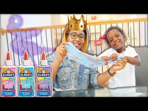 3 COLOR GLUE SLIME CHALLENGE WITH MY FAIRY GODMOTHER!