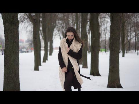Узор спицами для шарфа из толстой пряжи