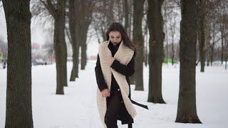 Вяжем шарф из толстой пряжи спицами. МАСТЕР-КЛАСС