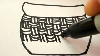 How To Draw Easter Egg Basket  REAL EASY !!!