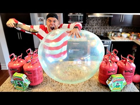 Thumbnail: WUBBLE BUBBLE HELIUM EXPERIMENT!! (THIS BALLOON CAN NOT BE POPPED) IMPOSSIBLE CHALLENGE