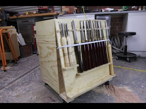 028 Lathe Tool Cart From A Single Sheet Of Plywood