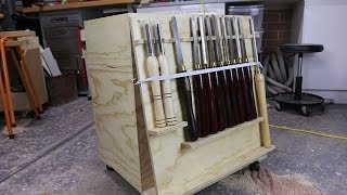 028 - Lathe Tool Cart From A Single Sheet Of Plywood