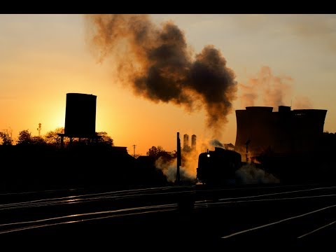 Steam Freight at Sunrise with Garratt 14A-525 - Bulawayo Zim