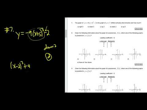 7 The Graph Of Y 9x 53 2 Is Shifted Vertically What