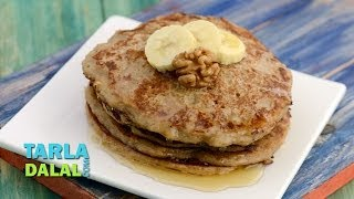Banana Walnut Pancakes (pregnancy Recipe) By Tarla Dalal