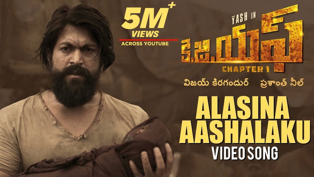 Download Alasina Aashalaku Full Video Song | KGF Telugu Movie | Yash | Prashanth Neel | Hombale | Ravi Basrur