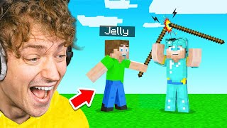TURNING JELLY Into A NOOB In Minecraft!