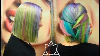 Антоцианин чаcть N.  Делаем цветное мелирование волос