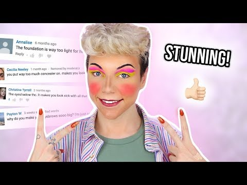 HATE COMMENTS PICK MY MAKEUP | Thomas Halbert