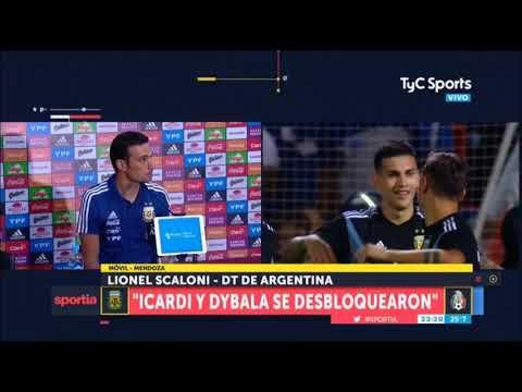 """Lionel Scaloni """"Icardi y Dybala se desbloquearon"""""""