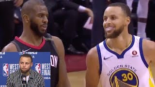 Stephen Curry's FIRE Response to Chris Paul SHIMMYING In His Face