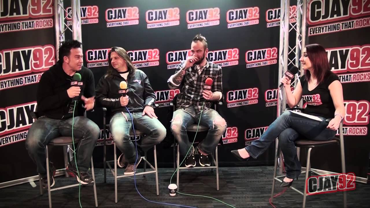 Saint Asonia In The CJAY 92 Rock Room