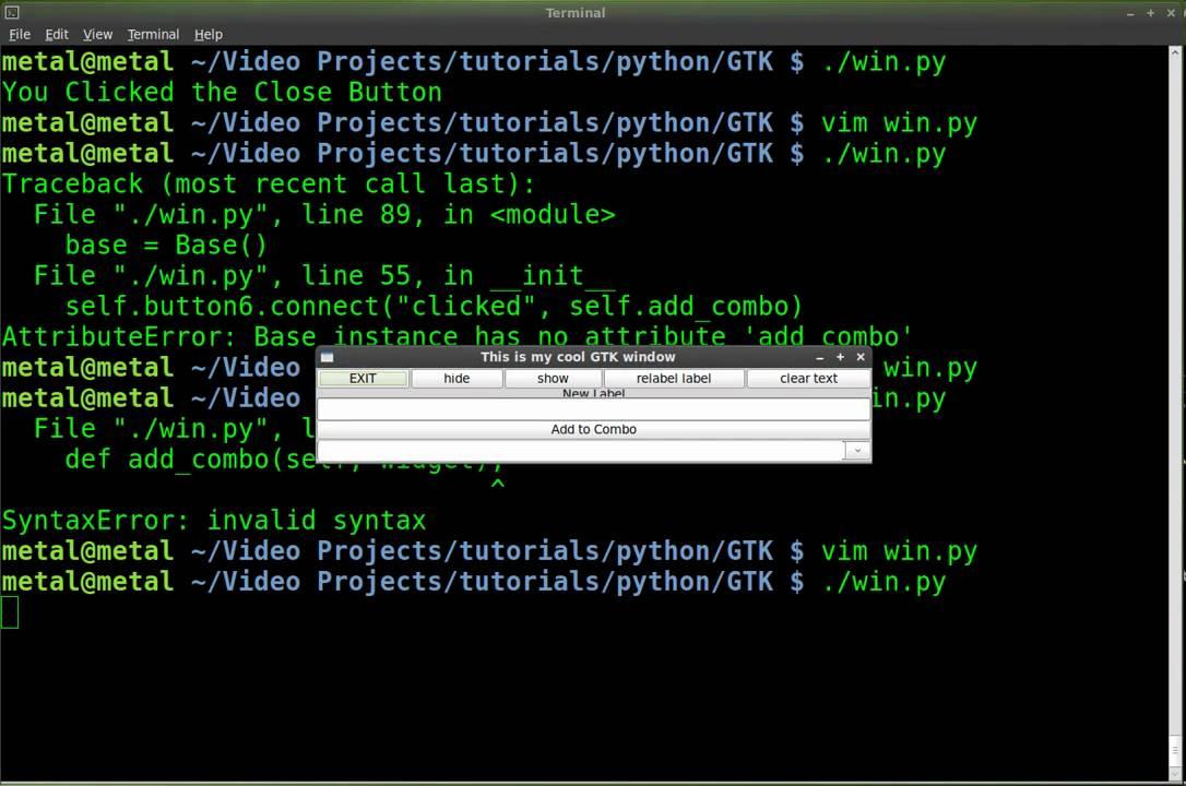 Python - GTK GUI - Tutorial #13 - Add to ComboBox