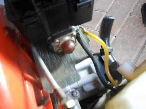 How to replace Small Engine Primer fuel bulb fuel line 2