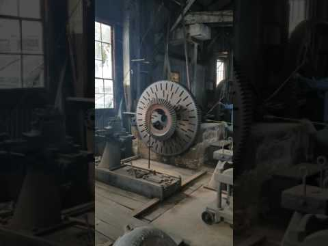 Large Lathe at Knight Foundry