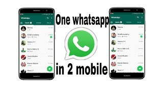 How to use one whatsapp account in two device