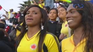 Nueva celebración de colombianos por triunfo mundialero / Antofagasta Televisión Noticias