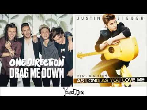 Justin Bieber ft. One Direction -As Long As Drag Me Down (Mashup)