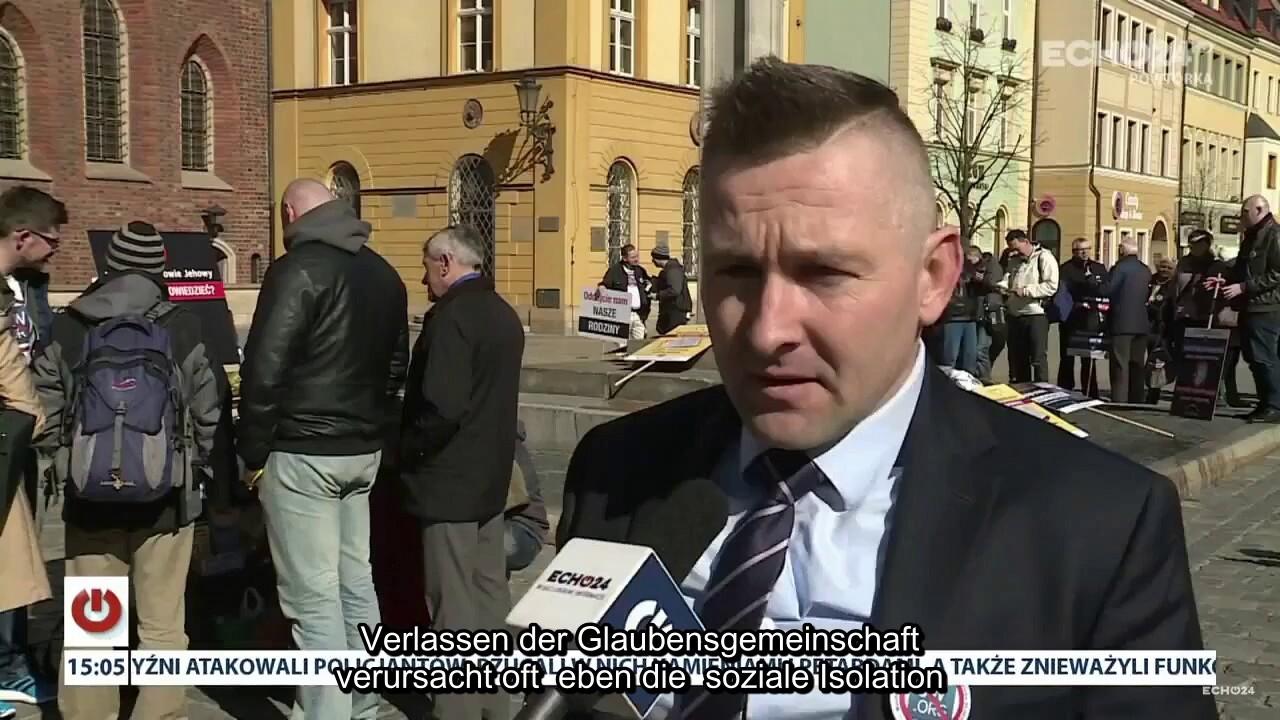 Eine Protestaktion Gegen Praktiken Der Zeugen Jehovas Reportage