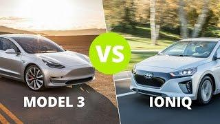 Tesla Model 3 vs Hyundai Ioniq Electric : Are these EVs in the same class?