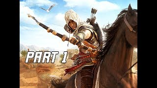 ASSASSIN'S CREED ORIGINS Walkthrough Part 1 - First 1.5 hours!!!  (PC Ultra Let's Play Com