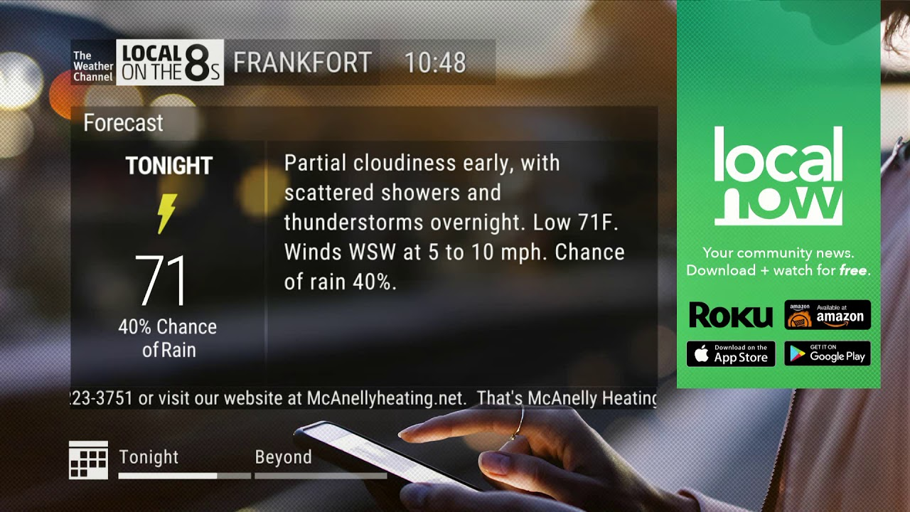The Weather Channel - Frankfort, KY Local Forecast - 8/20/2019 10:48am