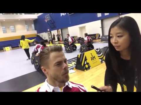 Jessica Ng interviews Derek Hough, Laura Wright - Invictus Games