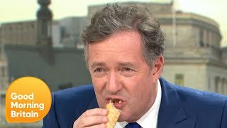Piers Morgan Tries Greggs' Vegan Sausage Roll | Good Morning Britain