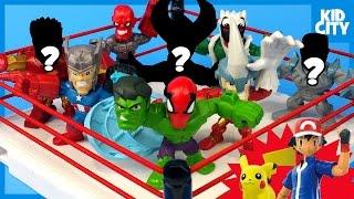 Superhero Toys Shake Rumble with Pokémon Batman Spiderman Mystery Minis | KIDICITY RUMBLE LEAGUE