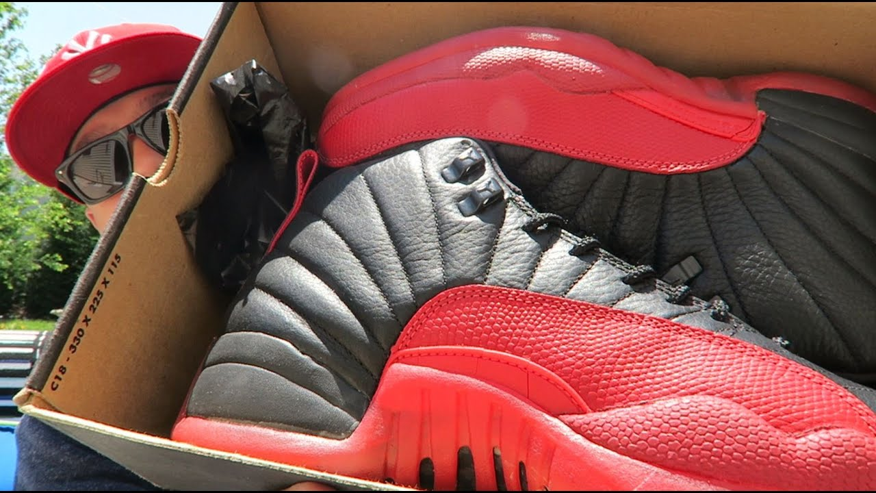 buy popular 02be0 e69f8 1997 Air Jordan 12 Flu Game Bred Sneaker Super Detailed Look (OG Status)