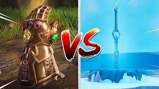 INFINITY BLADE VS INFINITY GAUNTLET!! (Who Wins?) Fortnite Battle Royale thumbnail
